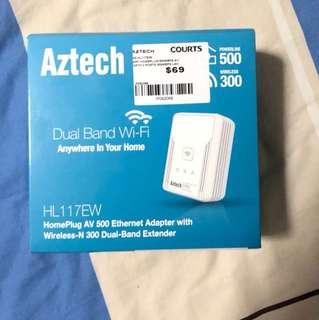 Aztech powerline WiFi cum Ethernet adapter
