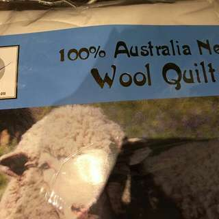 Wool quilt (good condition plus two pillow covers)