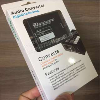 DAC - Optical Digital to Analog Audio  (RCA or 3.5mm phone jack) Electronic Converter Device