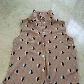Heart shaped top in light brown