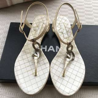 Chanel  sandals shoes in exotic python leather  *Made in Italy  @Size 37