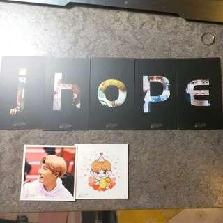 Bts 防彈少年團 jhope 鄭號錫 卡 貼紙 韓站