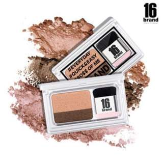 [LAST PREORDER] AUTHENTIC ONLY >> 16brand 16 brand sixteen eyeshadow