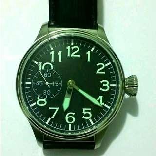 全新喵星6497機芯上練軍錶 標準47mm大size