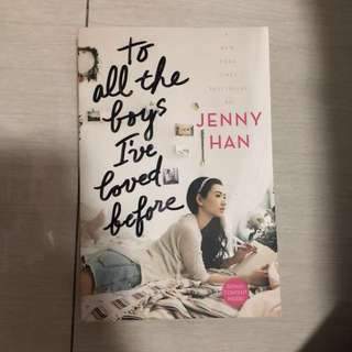 To all the boys i've loved before novel by jenny han