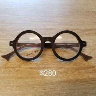 全新眼鏡框(木製)
