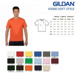 Kaos Gildan 63000 Soft Style Original