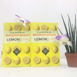 Etude house lemon face mask sheet