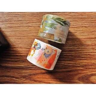 [手帳裝飾] 柴犬30mm系列和纸膠帶 家的美好角落手帳日記相冊装饰30mm膠帶