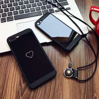 Black Heart Soft Case for iPhone