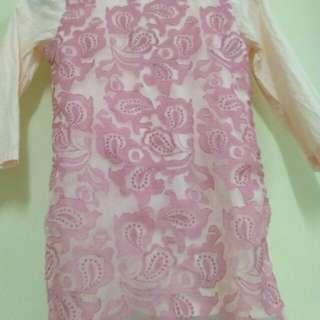 Baju Kurung Kanak2 Kain Cotton size 5-6tahun