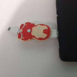 Kabel data/ charger hp android iron man