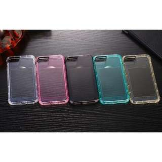 Colorful Shockproof Transparent iPhone Case