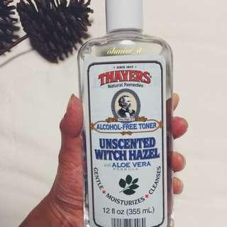 Thayers, Unscented Witch Hazel with Aloe Vera Formula [Alcohol-Free Toner], 12 fl oz [355 ml]