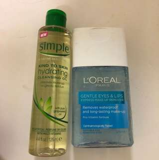 Cleansing oil and eye makeup remover