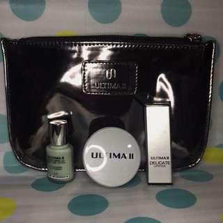 PAKET ULTIMA II - Lipstick, Loose Powder, Primer, Pouch