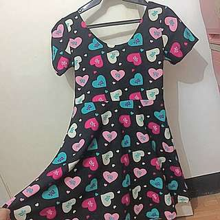 Skater Dress Heart Design