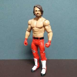 已開Mattel WWE AJ Styles (Red Attire)