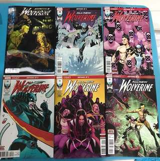 Marvel Comics: All New Wolverine #25 to 30