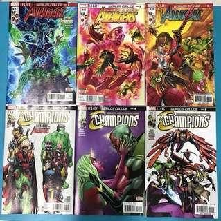 Marvel Comics: Avengers #672 to 674 & Champions #13 to 15