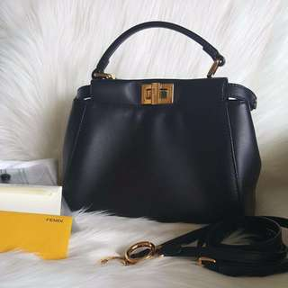 💯 real Fendi Mini Peekaboo (shop price $28,xxx) not Chanel YSL valentino celine hermes gucci