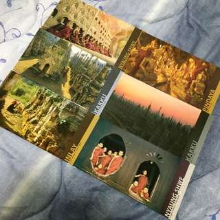 Myanmar Post Cards x 6