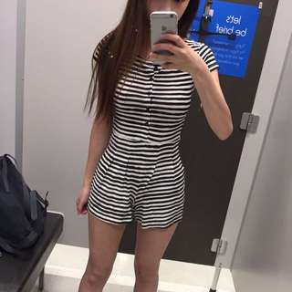 Stripy playsuit