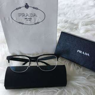 Authentic Prada Matte Black Eyeglasses