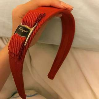 Salvatore Ferragamo Headband ( orange/red )