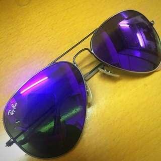 Rayban經典紫色水銀面太陽眼鏡RB3025 烏蠅鏡