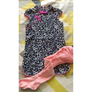 CNY cheongsam for 2-3 year olds
