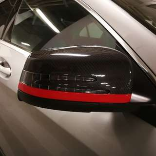 Original Mercedes CLA Side Mirror Covers (with CF wrap)