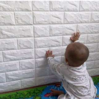 3D Foam Brick Wall Stickers