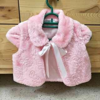 Pink fur outwear