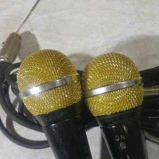 Golden Karaoke Microphones( pair )