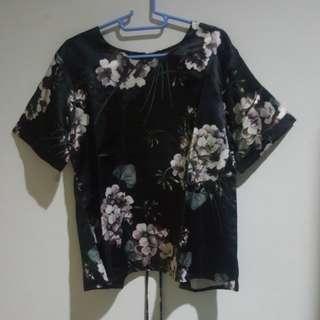 Black Flower Top