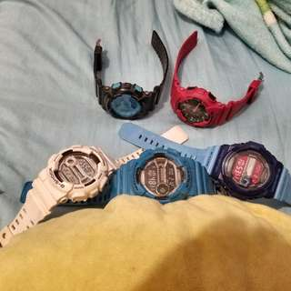 Casio Gshock watches Orig Legit Authentic analog and digital