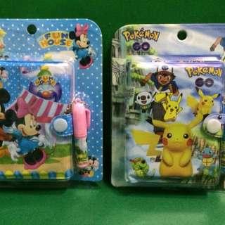 Mickey n Pikachu note book