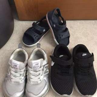 Kids shoes/ sandals / sport shoe/ New Balance Silver/ Nike / Crocs