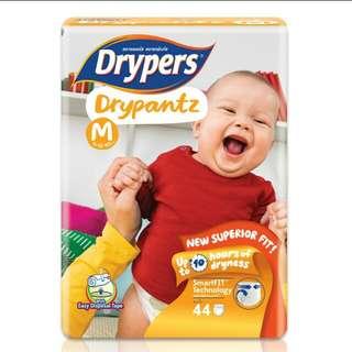 Drypers Drypantz pampers diaper M