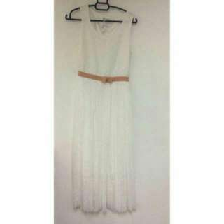 🆕BNWT Maxi Long White Dress #CNY88