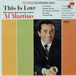 Al Martino Vinyl LP, used, 12-inch original pressing