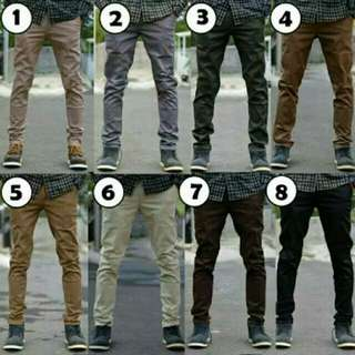 Celana jeans chino skinny