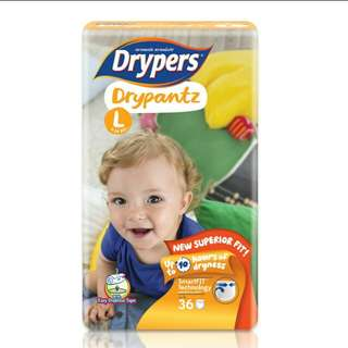 Drypers Drypantz pampers diaper L