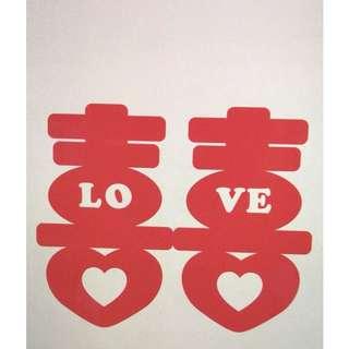 Shuang xi Acrylic decoration for wedding