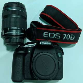 Canon EOS 70D with EFS 18-135mm lens