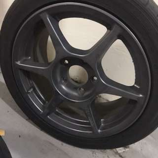 P1 buddy club sport rims with tyres