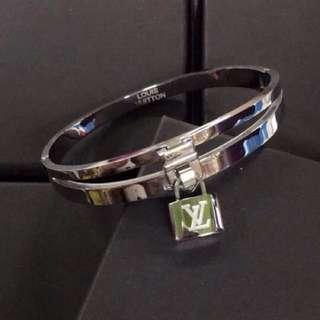 LV Silver Bangle Bracelet