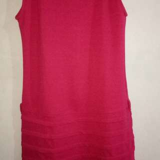 Dress pink santai bagus
