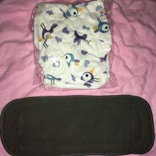 Cloth diaper with bamboo charcoal insert